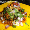 Green Tikki on Protein Platter/ Green Tikki with Chickpeas Curry