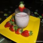 Slushy Strawberry Vanilla Shake