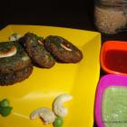 Hara Bhara Kebab With Green Chickpeas Dip