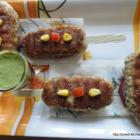 Tri-Coloured Vegetable Grill Kebab/ Vegetable Kebab/ Grill Kebab/ Vegetable Seekh Kebab