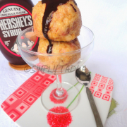 Fried Ice cream with Chocolate Sauce