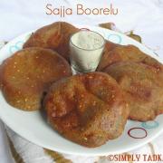 Sajja Boorelu | Deep Fried Bajra Pancakes- Andhra Cuisine
