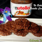 No Bake Nutella Oats Cookies