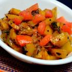 Kalonji Aloo Stir Fry | Stir Fried Potato Onion with Nigella Seeds