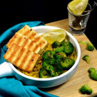 Grilled Tofu with Turmeric Brown Rice