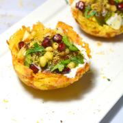 Aloo Tokri Chaat | Potato Basket Chaat | Aloo Lacchaa Chaat
