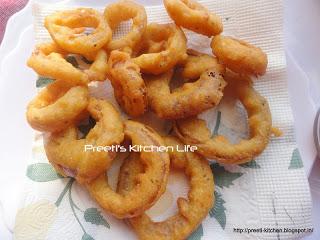 Cheesy Onion Rings Simply Tadka